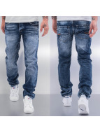 Cazzy Clang Straight fit jeans Washed blauw