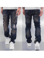 Cazzy Clang Straight fit jeans Shattered blauw