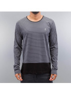 Cazzy Clang T-Shirt manches longues Stripes gris