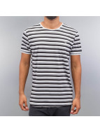 Cazzy Clang t-shirt Super Stripes wit