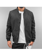 Cazzy Clang Veste bomber PU Leather noir