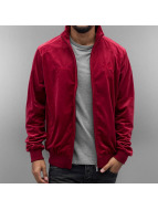 CHABOS IIVII Core Velour Track Jacket Burgundy