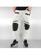 Cipo & Baxx Джинсы прямого покроя Fake Leather белый
