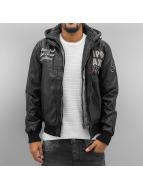 Cipo & Baxx Кожаная куртка New York черный