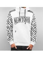 Cipo & Baxx Felpa con cappuccio New York bianco