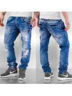 Cipo & Baxx Jeans Straight Fit Destroyed bleu