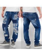 Cipo & Baxx Jeans Straight Fit Destroyed bleu