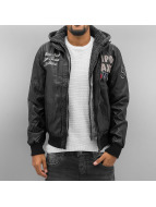 Cipo & Baxx Leather Jacket New York black