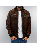 Cipo & Baxx Lederjacke Imitation Leather braun