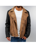 Cipo & Baxx Lederjacke Faux Leather braun