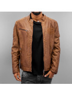 Cipo & Baxx Lederjacke Fake Leather braun