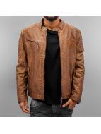 Cipo & Baxx leren jas Fake Leather bruin