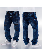 Cipo & Baxx Loose fit jeans Destroyed blauw
