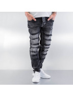 Cipo & Baxx Skinny Jeans Destroyed grau