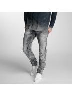 Cipo & Baxx Slim Fit Jeans Rif šedá