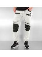 Cipo & Baxx Straight Fit farkut Fake Leather valkoinen