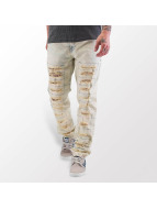 Cipo & Baxx Straight Fit Jeans Bleach beige