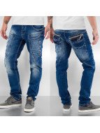 Cipo & Baxx Straight Fit Jeans Button blå
