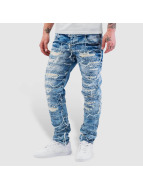 Cipo & Baxx Straight Fit Jeans Fray blå