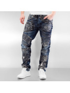 Cipo & Baxx Straight Fit Jeans Skull blå