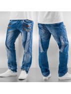 Cipo & Baxx Straight Fit Jeans Skull Regular Fit blau