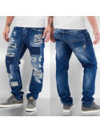 Cipo & Baxx Straight Fit Jeans Destroyed blau