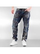 Cipo & Baxx Straight Fit Jeans Skull blau