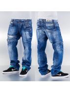 Cipo & Baxx Straight fit jeans Zig Zag blauw