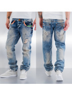 Cipo & Baxx Straight fit jeans Paris blauw