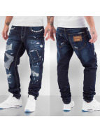 Cipo & Baxx Straight fit jeans Patched blauw