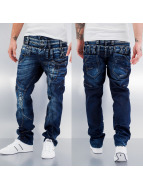 Cipo & Baxx Straight Fit Jeans Triple Collar blue