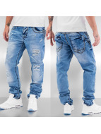 Cipo & Baxx Straight Fit Jeans Thick Seams blue
