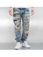 Cipo & Baxx Straight Fit Jeans Exeter modrý