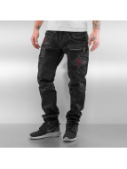 Cipo & Baxx Straight fit jeans Denim zwart