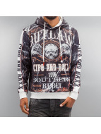 Cipo & Baxx Sweat capuche Flying Skull gris