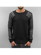 Cipo & Baxx Swetry Fake Leather czarny
