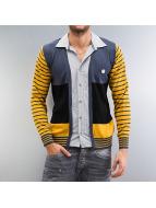 Cipo & Baxx Swetry rozpinane Stripes niebieski