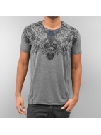 Cipo & Baxx T-Shirt Skull gris