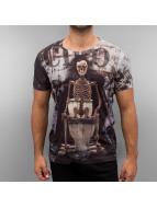 Cipo & Baxx t-shirt Skelett zwart
