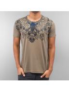Cipo & Baxx T-shirtar Skull khaki