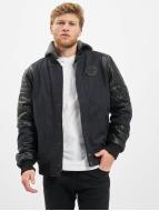 Cipo & Baxx Veste demi-saison Synthetic Leather Sleeves noir