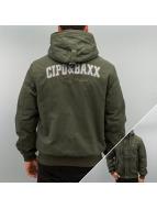 Cipo & Baxx Veste d'hiver Polar kaki