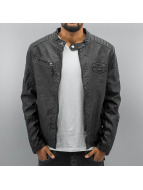 Cipo & Baxx Veste en cuir Fake Leather noir