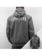 Cipo & Baxx winterjas Polar grijs
