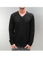 Clang Camiseta de manga larga Jaron negro