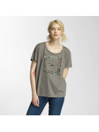 Cleptomanicx Floral Box T-Shirt Heather Dusty Olive