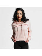 Criminal Damage Hoodie Queen Crop pink