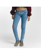 Criminal Damage Raw Skinny Jeans Ice Wash