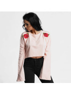 Criminal Damage Longsleeves Elm Crop pink