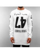 Criminal Damage Pullover Love Life Long weiß